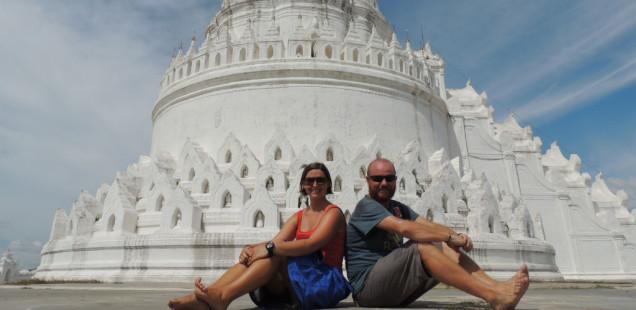La pagoda blanca de Mingun